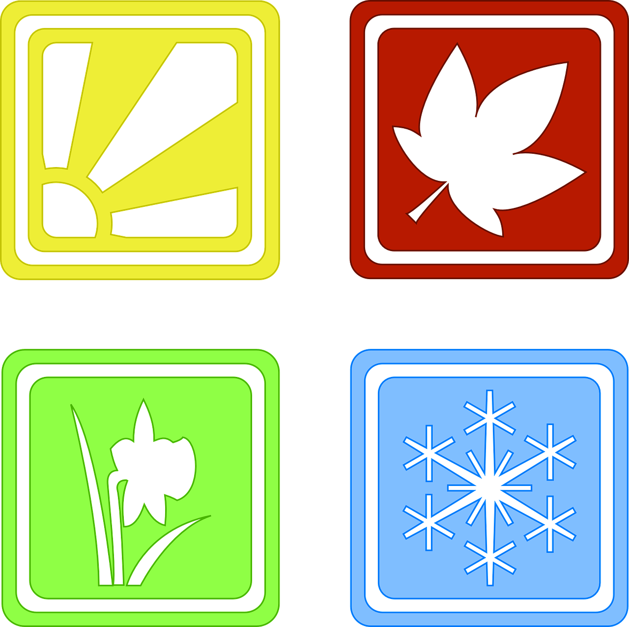 Seasons Four Symbols Year Spring  - Clker-Free-Vector-Images / Pixabay